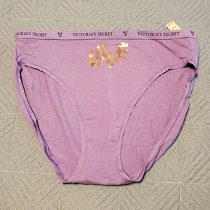 Victoria's Secret purple brief, size L